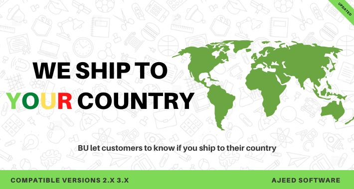 BU let your customers know if you ship to their country Opencart module