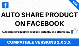 Auto share products on facebook