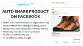 Auto share Opencart  products on facebook