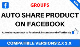 Auto share Opencart products on Facebook groups